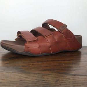 Fitflop Ethan Adjustable Slides Leather Sandals